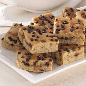 Makeover Chocolate Chip Snack Cake