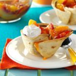 Fruity Chocolate Tortilla Cups