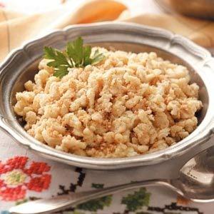 Crumb-Coated Spaetzle