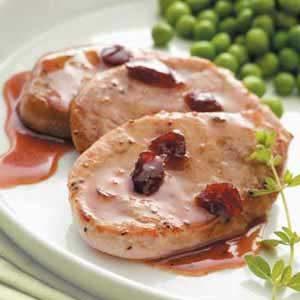 Cranberry-Mustard Pork Medallions