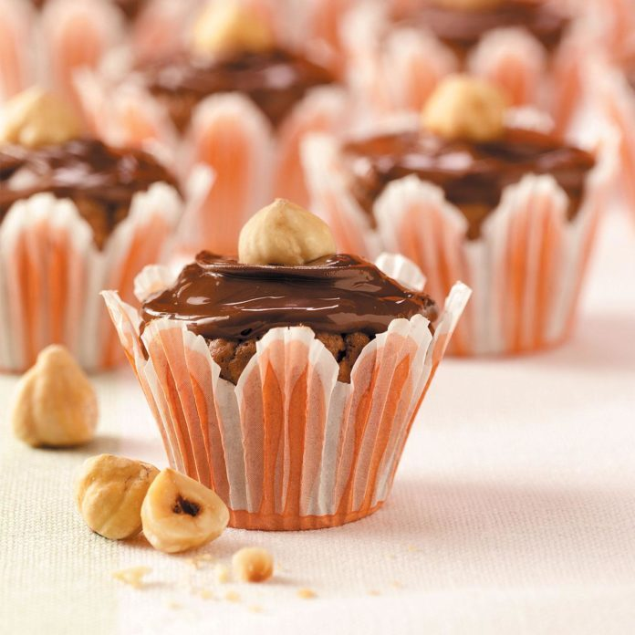 Chocolate-Hazelnut Brownie Bites