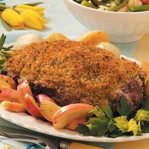 Crusty Roast Leg of Lamb