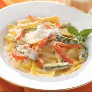 Cheese Ravioli with Zucchini