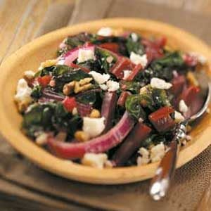 Swiss Chard with Beets