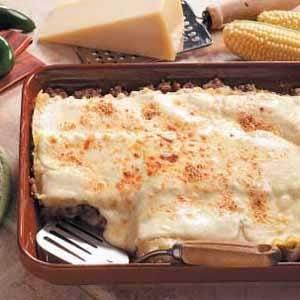 Three-Cheese Sausage Lasagna