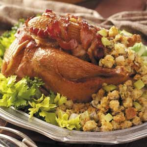 Roasted Pheasants with Oyster Stuffing