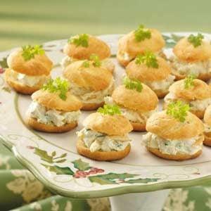 Curried Chicken Cream Puffs
