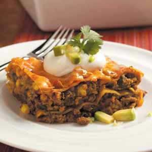 Contest-Winning Tex-Mex Lasagna
