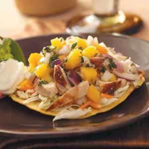 Chicken Tostadas with Mango Salsa