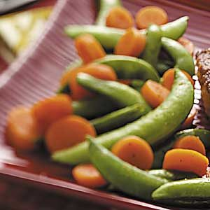 Carrots with Sugar Snap Peas