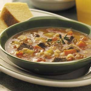 Beef Barley Soup with Veggies