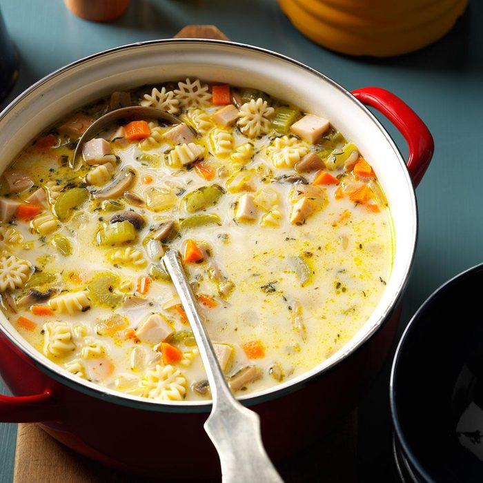 Creamy Vegetable Turkey Soup