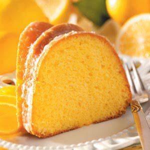 Glazed Lemon Flute Cake