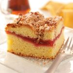 Raspberry-Rhubarb Coffee Cake