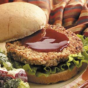 Barbecue Nut Burgers