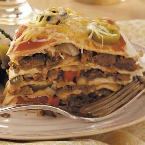 Vegetarian Tortilla Stack