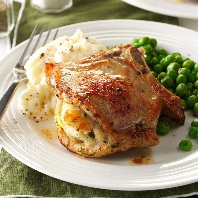 Company Stuffed Pork Chops