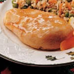 Quick Apricot Glazed Chicken