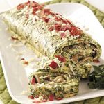 Spinach Omelet Brunch Roll