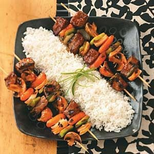 Barbecue Beef Kabobs
