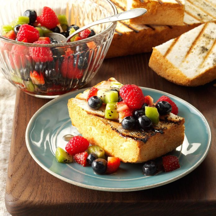 Grilled Angel Food Cake with Fruit Salsa