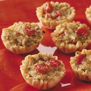 Pesto Cheese Tarts