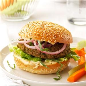 Chickpea 'n' Red Onion Burgers
