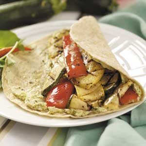 Grilled Veggie Tortilla Wraps