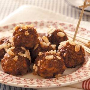 Barbecue Sauce Meatballs