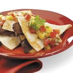 Beef Quesadillas with Salsa