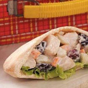 Crunchy Chicken Salad Pitas
