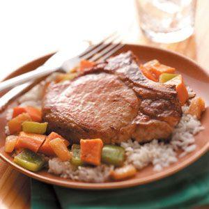Sweet Potato Pork Skillet
