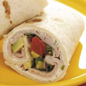 Avocado Smoked Turkey Wraps