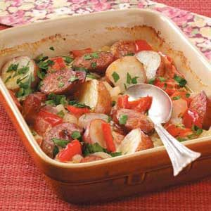 Kielbasa and Pepper Casserole