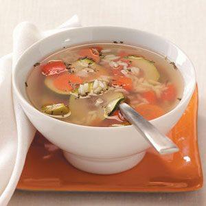 Garden Vegetable Rice Soup