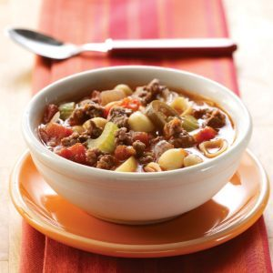 Zesty Hamburger Soup