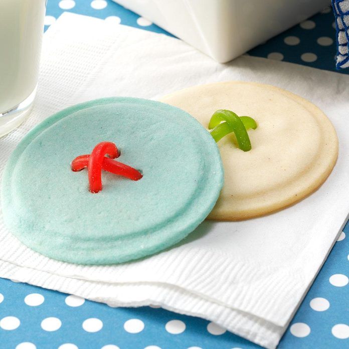 Crisp Button Cookies