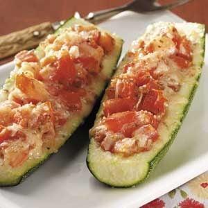 Tomato Stuffed Zucchini