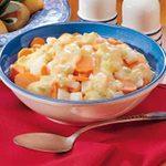 Cheesy Turnips and Carrots