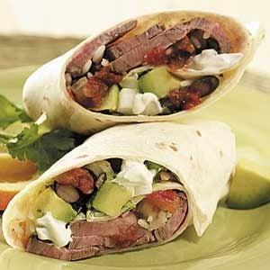 Flank Steak Burritos
