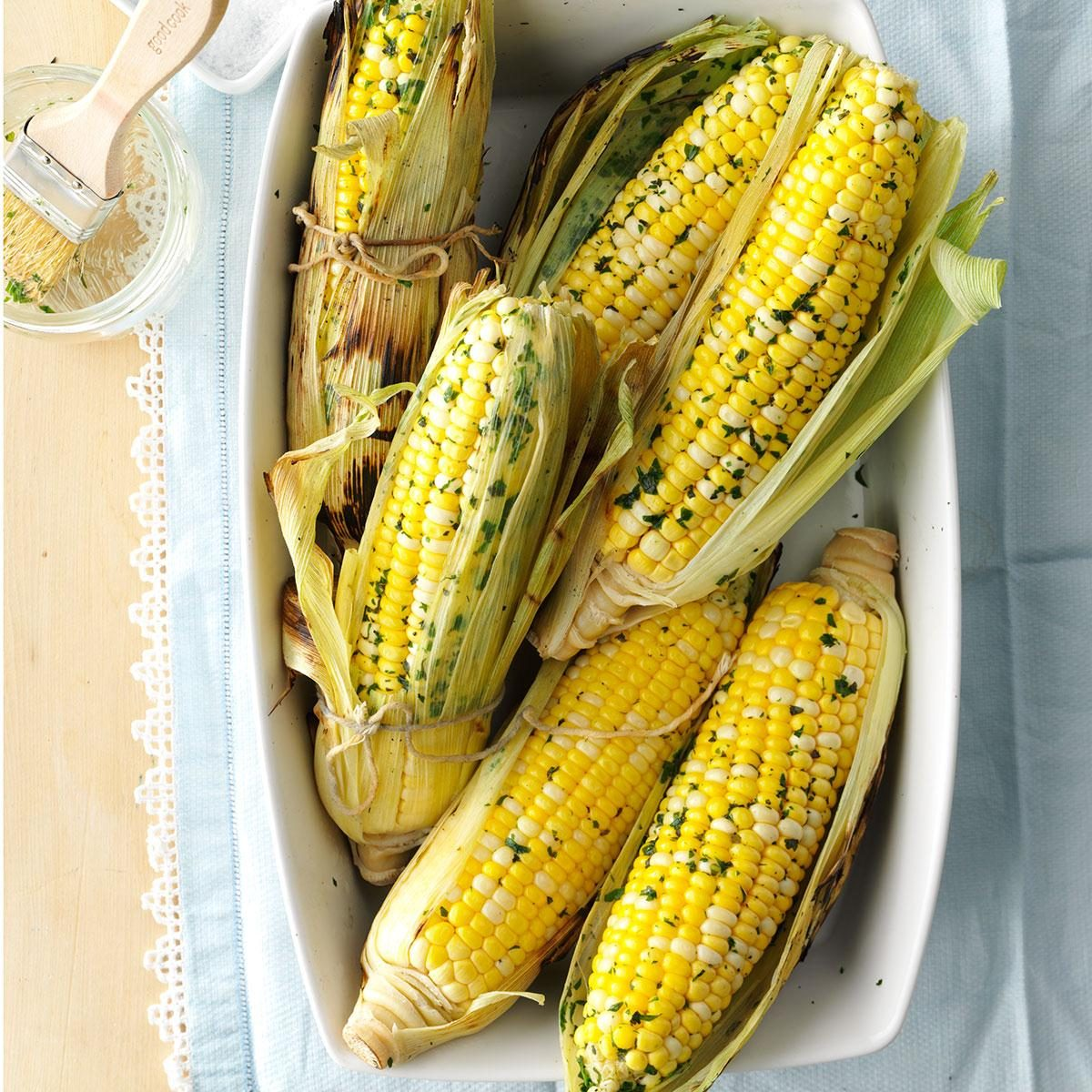 Herbed Grilled Corn on the Cob