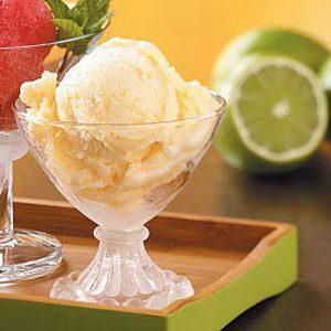 Lighter Peach Ice Cream