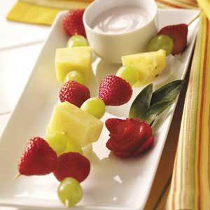 Fruit Skewers with Lactose-Free Dip