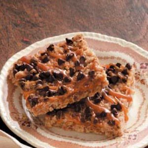 Caramel-Chocolate Crunch Bars
