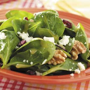 Dijon-Walnut Spinach Salad