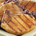 Smoked Chops with Cherry Sauce