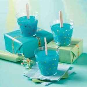 Berry Blue Icy Summer Treats Dessert