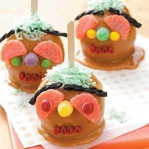 Ghoulish Caramel Apples