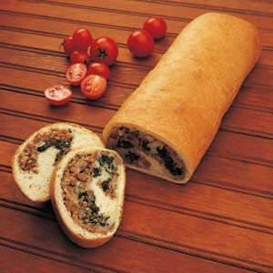 Stuffed Spinach Loaf