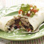 Black Bean Pork Burritos